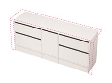 City 50 Wall to Wall 1901-2000 Floor - 1 Door 4 Drawer