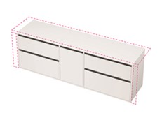City 50 Wall to Wall 2001-2000 Wall - 1 Door 4 Drawer