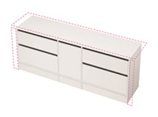 City 50 Wall to Wall 2001-2100 Floor - 1 Door 4 Drawer