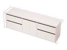 City 50 Wall to Wall 2101-2200 Wall - 2 Door 4 Drawer