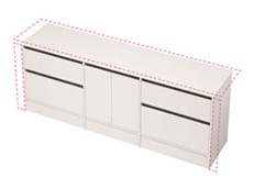 City 50 Wall to Wall 2101-2200 Floor - 2 Door 4 Drawer