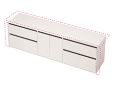 City 50 Wall to Wall 2201-2300 Wall - 2 Door 4 Drawer
