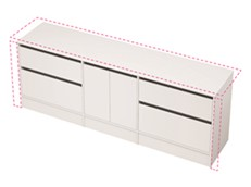 City 50 Wall to Wall 2201-2300 Floor - 2 Door 2 Drawer
