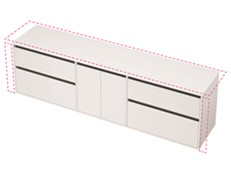 City 50 Wall to Wall 2301-2400 Wall - 2 Door 4 Drawer