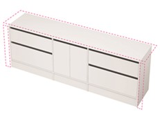 City 50 Wall to Wall 2301-2400 Floor - 2 Door 4 Drawer