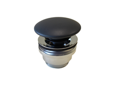 Coloured Ceramic Mushroom Waste Dusky Matte Black (City 50 & WW)